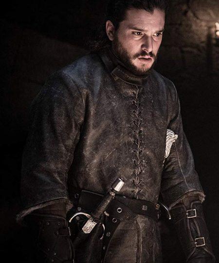 Jon Snow Kit Harrington Game Of Thrones Brown Jacket
