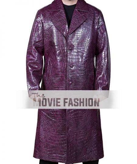 Suicide Squad Joker Crocodile Purple Coat