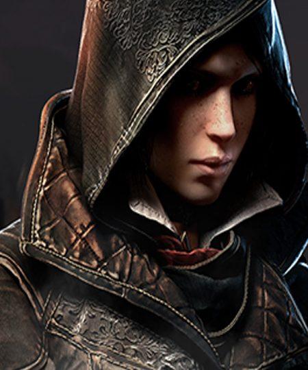Assassins Creed Syndicate Evie Frye Black Leather Jacket